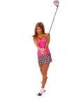性感的高尔夫球运动员 免版税图库摄影