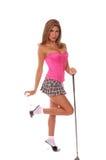 性感的高尔夫球运动员 免版税库存照片