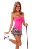 性感的高尔夫球运动员 免版税库存图片