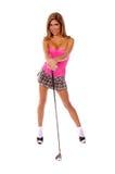 性感的高尔夫球运动员 库存照片