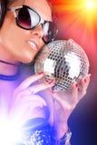 性感的DJ的纵向 免版税库存照片