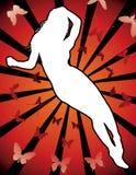 性感的silhouet妇女 免版税库存照片