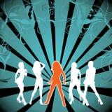 性感的silhouete妇女 免版税库存图片
