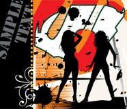 性感的silhouete妇女 免版税图库摄影