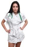 性感美丽的护士 免版税库存照片