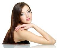 性感长期女孩的头发 免版税图库摄影