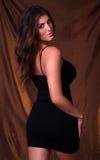 性感黑色的礼服 免版税图库摄影