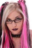 性感goth的书呆子 库存图片