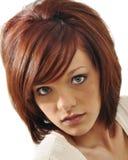 性感headshot的红头发人 免版税图库摄影