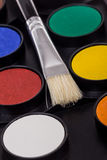 水性涂料调色板 库存图片