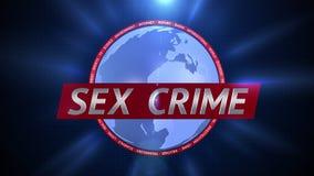性犯罪 广播动态图表 向量例证