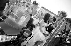 性能婚礼 库存照片