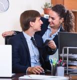 性骚扰的办公室 免版税图库摄影