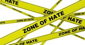怨恨区域  黄色警告磁带 库存例证