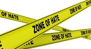 怨恨区域  黄色警告磁带 向量例证