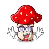 怪杰伞形毒蕈蘑菇字符动画片 向量例证