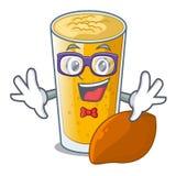 怪杰在动画片瓶的lassi芒果 向量例证