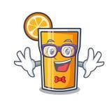 怪杰橙汁字符动画片 向量例证