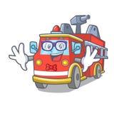 怪杰消防车字符动画片 向量例证