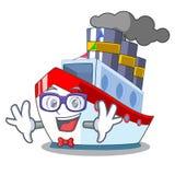 怪杰空中在动画片货船视图 皇族释放例证