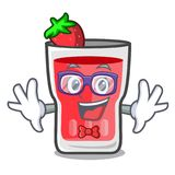 怪杰草莓mojito字符动画片 向量例证
