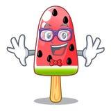 怪杰西瓜冰淇淋形状的木字符 库存例证