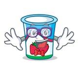 怪杰酸奶字符动画片样式 皇族释放例证