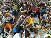 怪杰野餐26 06 2016年 是现代技术、科学和艺术最大的欧洲节日  彼得斯堡圣徒 库存照片