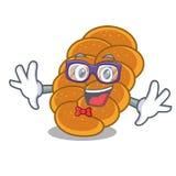 怪杰鸡蛋面包字符动画片样式 库存例证