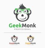 怪杰猴子商标模板 向量例证