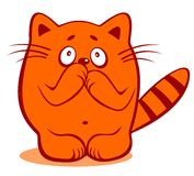 怯懦的猫 免版税图库摄影