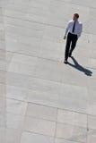 总公司人路面走 免版税图库摄影