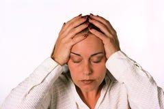 总公司沮丧的妇女 库存图片
