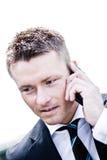总公司英俊的人电话 免版税图库摄影