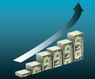 总公司财务增长 免版税库存照片