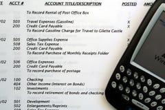 总帐管理系统pda 免版税图库摄影