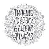 总是想象梦想belive在圈子 库存图片