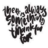 总是有某事是感激的为 您的设计的手字法 向量例证