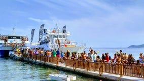 总是有海党在伊维萨岛! 免版税库存图片