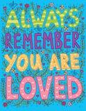总是记住您被爱 库存例证