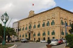 总理部长宫殿在瓦莱塔马耳他的首都在 免版税图库摄影