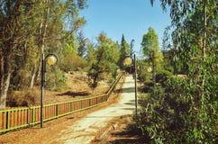 总统公园在尼科西亚,塞浦路斯在10月 免版税库存照片