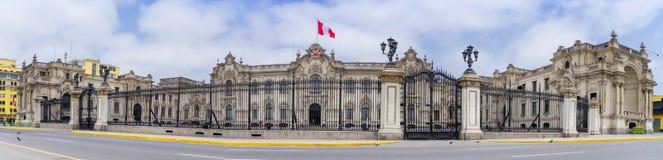 总统府利马秘鲁 库存照片