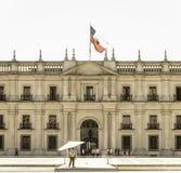 总统府的看法,叫作La Moneda,在圣地亚哥 库存图片