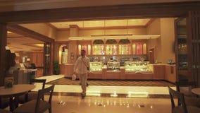 总统旅馆酋长管辖区宫殿内部阿布扎比股票英尺长度录影的 影视素材