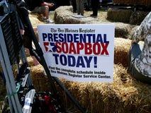 总统肥皂箱标志 库存图片