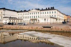 总统芬兰赫尔辛基的宫殿 库存照片