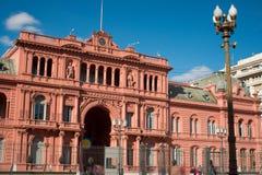 总统阿根廷的宫殿 免版税库存照片