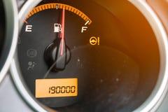 总距离移动了190,000 km 汽车 免版税库存图片