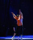 恋人中国样式芭蕾舞蹈 免版税库存图片
